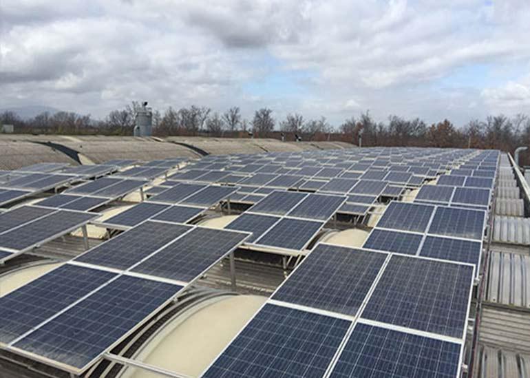 impianto fotovoltaico su capannone viterbo